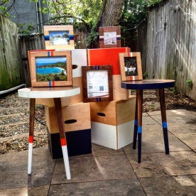 Custom tables,picture frames, and Bouchboxes.